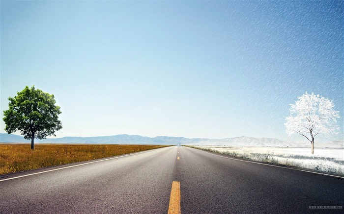 Endless Road-beautiful natural landscape Wallpaper Views:17965 Date:1/20/2013 9:38:15 PM