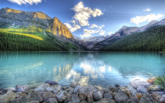 HDR mountainscape-Beautiful scenery wallpaper Views:5006