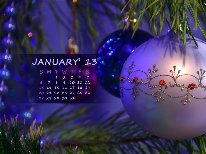 Happy Holiday-January 2013 calendar desktop themes wallpaper Views:7382 Date:1/1/2013 5:26:24 AM