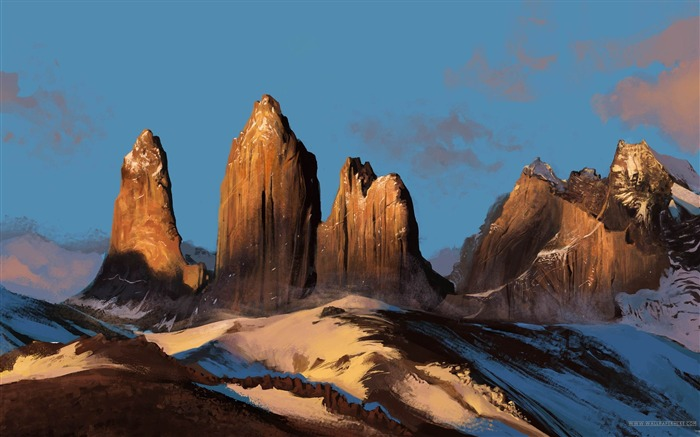 Majestic peaks-beautiful natural landscape Wallpaper Views:6141 Date:1/20/2013 9:41:20 PM