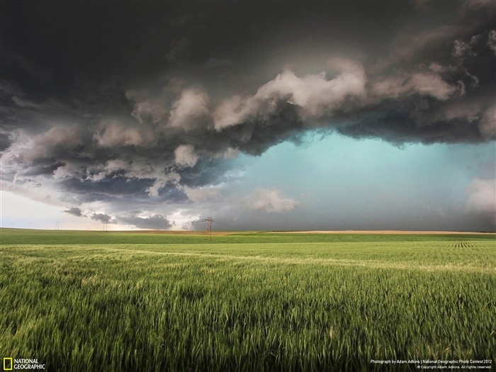 Supercell with Green Hail Core-2012 National Geographic Photography Wallpaper Views:4621