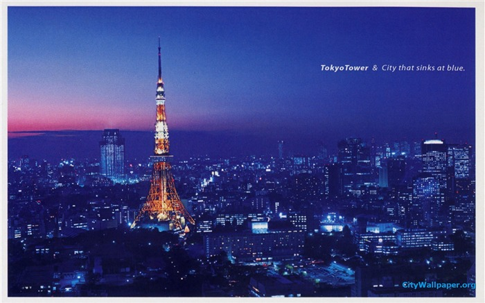 Tokyo Tower Japan cities landscape photography wallpaper Views:11930