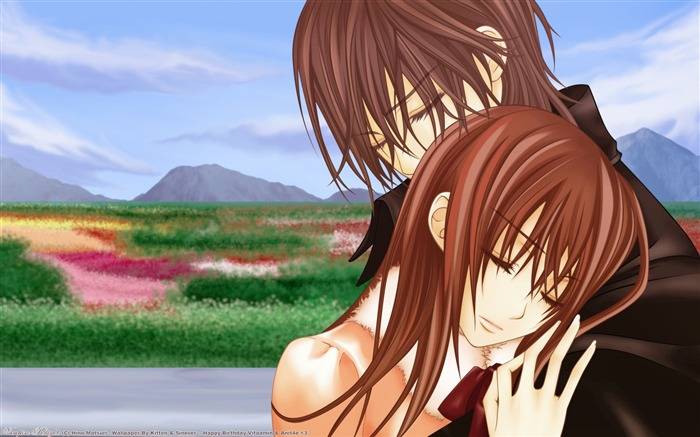 Vampire Knight Love-Cute cartoon characters wallpapers Views:11020