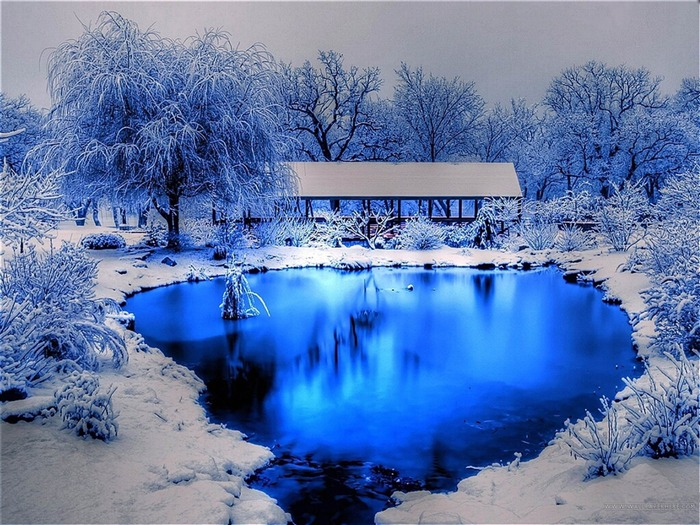 Winter blue lake-beautiful natural landscape Wallpaper Views:40146 Date:1/20/2013 9:39:05 PM
