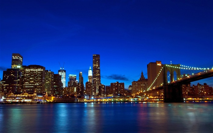 brooklyn bridge night-Cities architectural landscape wallpaper Views:4098