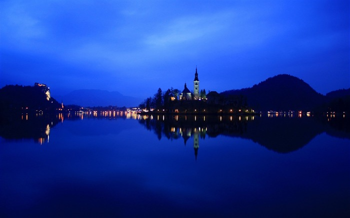 lake bled-Cities architectural landscape wallpaper Views:4643
