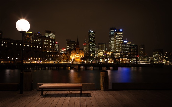 sydney at night-Cities architectural landscape wallpaper Views:20411