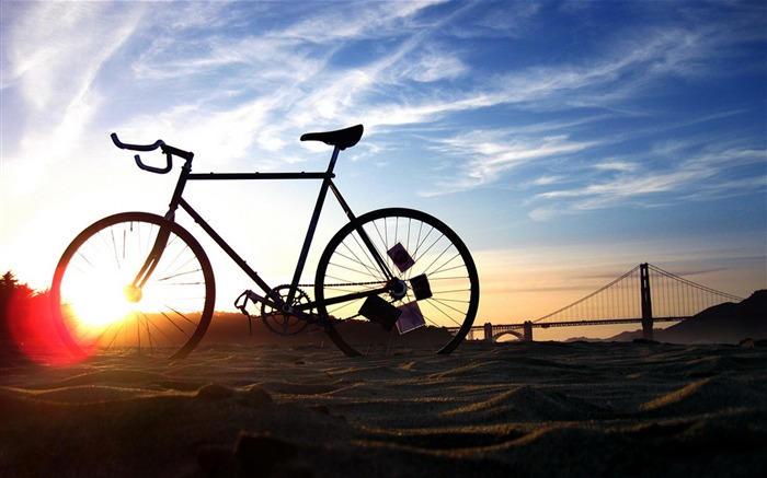 Bicycle theme photography widescreen wallpaper Views:31394