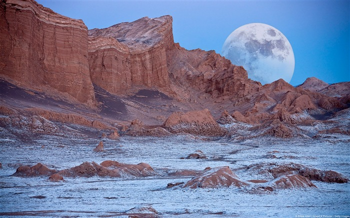 Chile Valley of the Moon Atacama Desert-natural landscape HD wallpaper Views:37524
