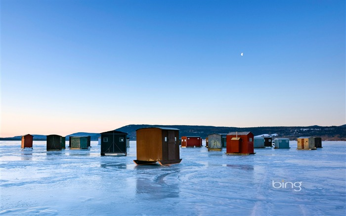 Ice huts-2013 Bing widescreen wallpaper Views:4174