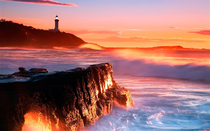 Nora Lighthouse soldiers Beach Australia-natural landscape HD wallpaper Views:4955