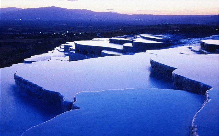 Pamukkale Denizli City photography HD wallpaper Views:11610