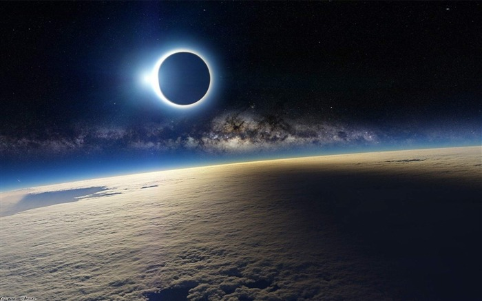 Solar Eclipse from Space-Universe space HD Desktop Wallpaper Views:10922