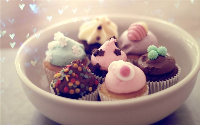 cupcakes-Quality photography wallpaper Views:15100 Date:2/2/2013 11:39:34 PM