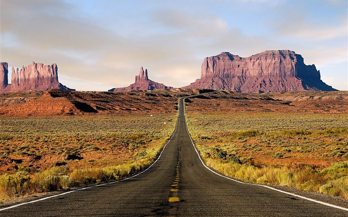 monument valley-Natural landscape widescreen wallpaper Views:4430