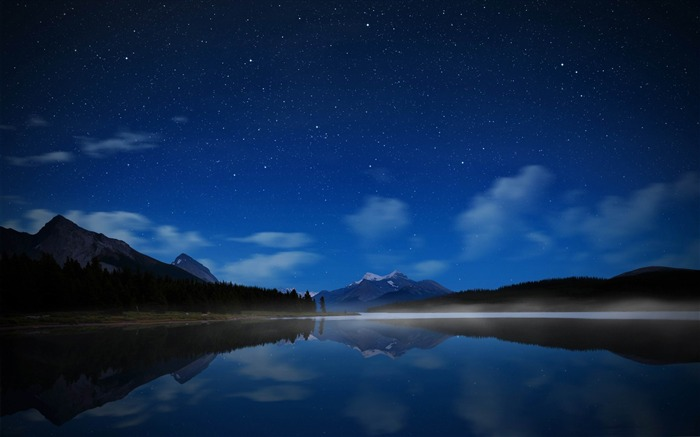 starry sky-Lakeside scenery HD wallpapers Views:18874