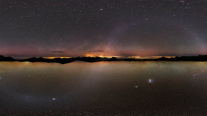 universe reflection-Lakeside scenery HD wallpapers Views:3543