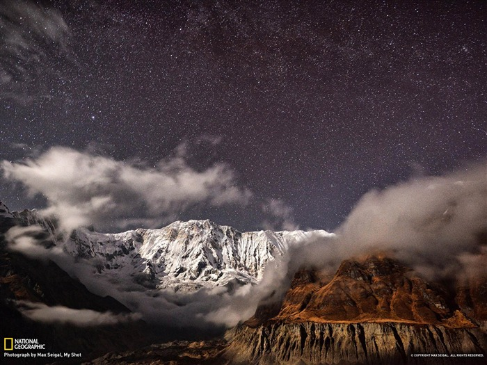 Moonlit Mountains Nepal-National Geographic wallpaper Views:6277