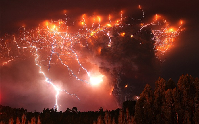 Volcanic eruption magma HD photography wallpaper 06 Views:14837