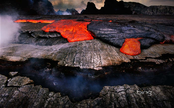 Volcanic eruption magma HD photography wallpaper 09 Views:3830