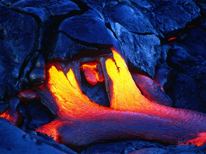 Volcanic eruption magma HD photography wallpaper 10 Views:7343