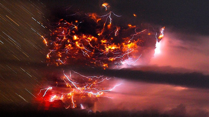 Volcanic eruption magma HD photography wallpaper 13 Views:5953