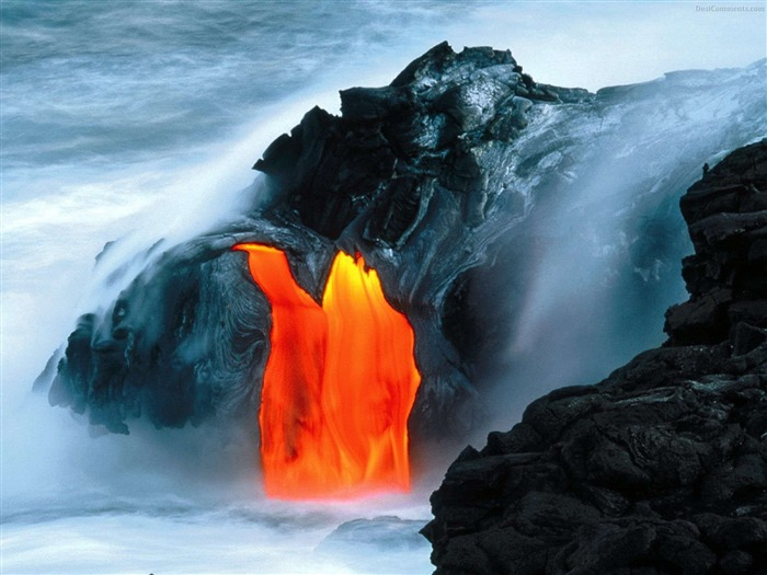 Volcanic eruption magma HD photography wallpaper 14 Views:3953
