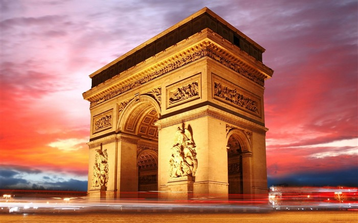 arc de triomphe paris france-Cities landscape widescreen wallpaper Views:6785