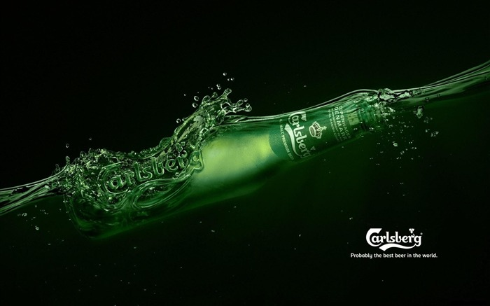 carlsberg beer drink alcohol-Brand advertising wallpaper Views:9158
