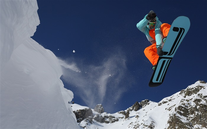 extreme snowboarding adventure-sports theme HD Wallpaper Views:6245
