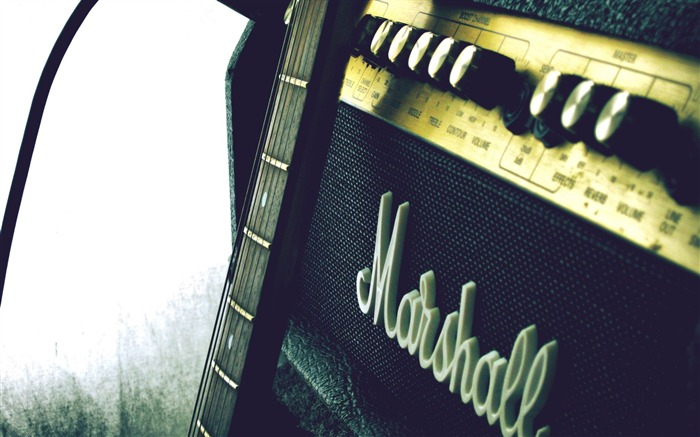 marshall amp guitar-Brand advertising wallpaper Views:11401