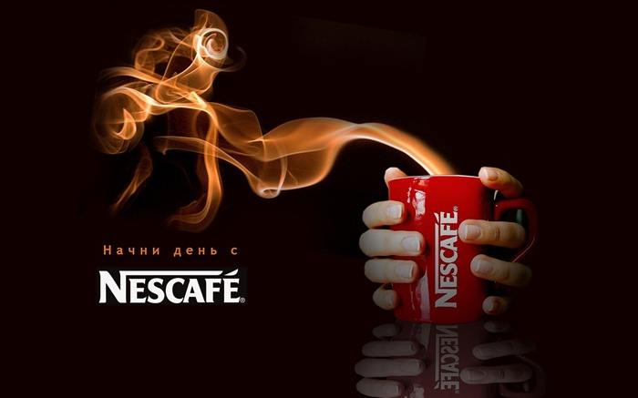 nescafe mug coffee fragrance vigor-Brand advertising wallpaper Views:8274