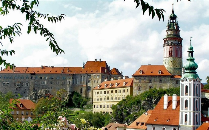 palace of cesky krumlov czech-Cities landscape widescreen wallpaper Views:5018