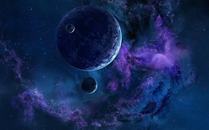 planets stars nebula universe-space HD Widescreen Wallpapers Views:5717