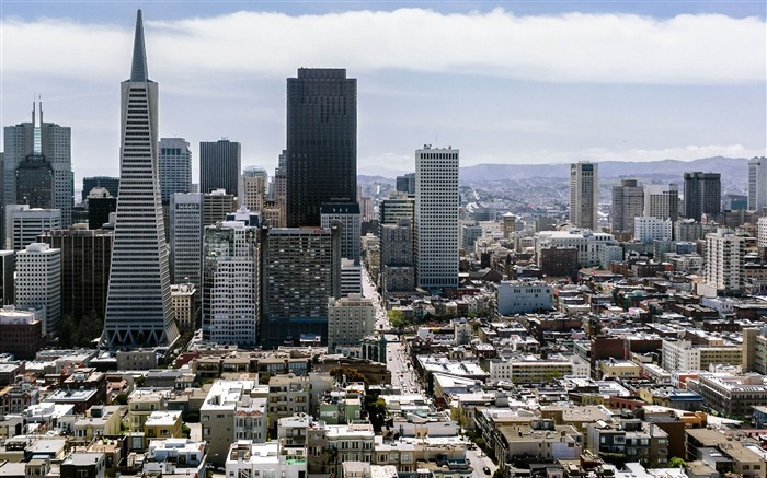 san francisco skyscrapers-World Travel HD photography Wallpaper Views:4554