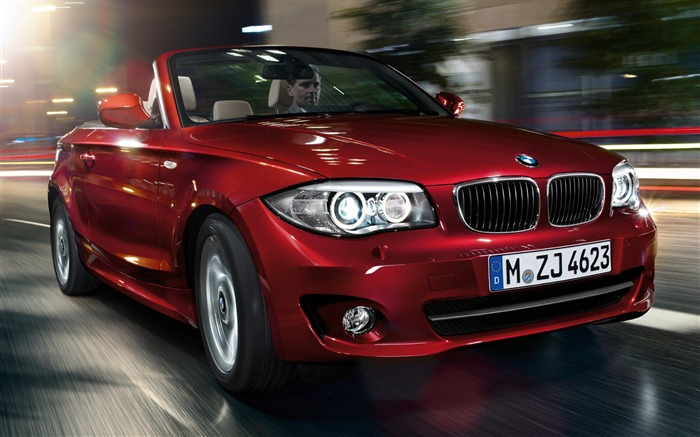 BMW red classic 1 Series Convertible car HD wallpaper Views:14203