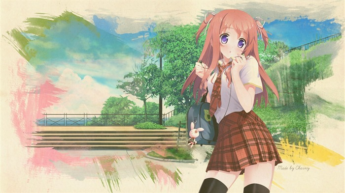 Kantoku anime girl works Widescreen Wallpaper 17 Views:3942 Date:4/13/2013 6:37:15 PM