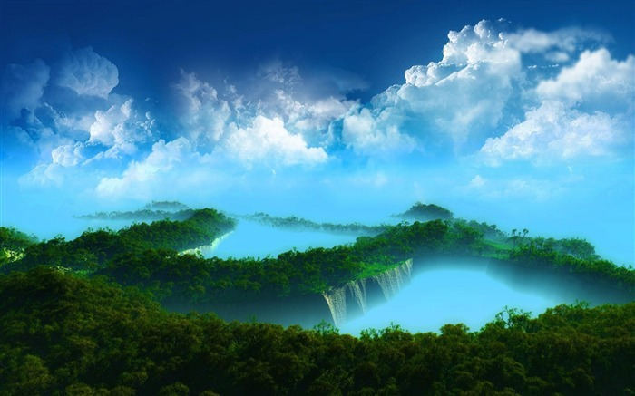 Spectacular waterfalls widescreen desktop wallpaper 01 Views:3902