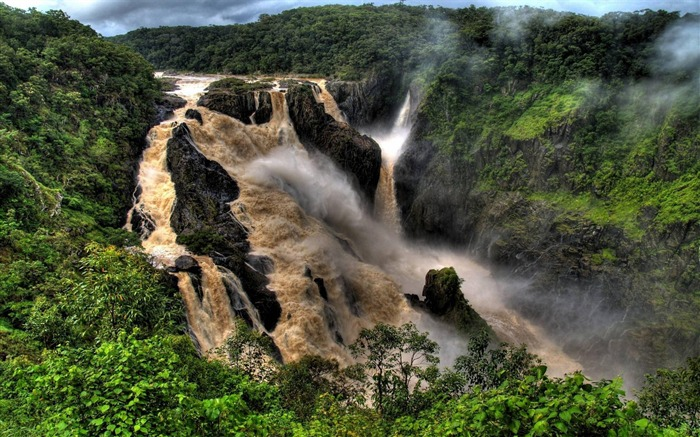 Spectacular waterfalls widescreen desktop wallpaper 13 Views:3497