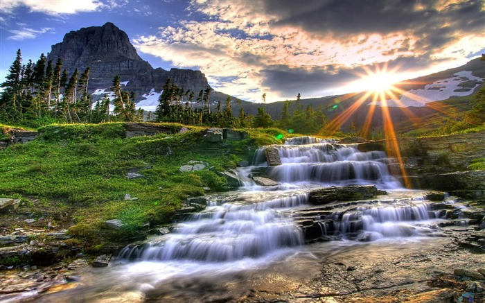 Spectacular waterfalls widescreen desktop wallpaper 15 Views:3370