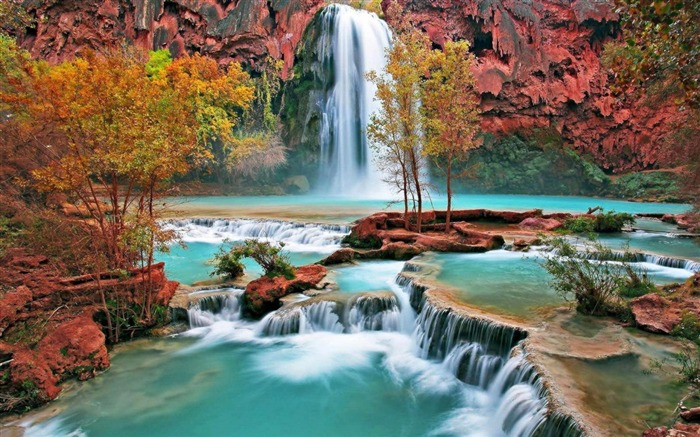 Spectacular waterfalls widescreen desktop wallpaper Views:11915