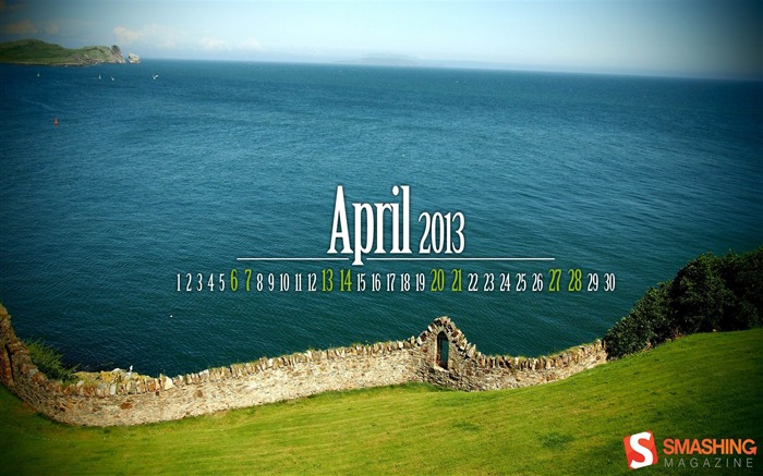 April 2013 calendar desktop themes wallpaper Views:16051