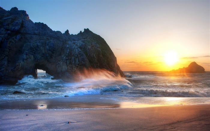 big sur sunset-Travel photography wallpaper Views:4189