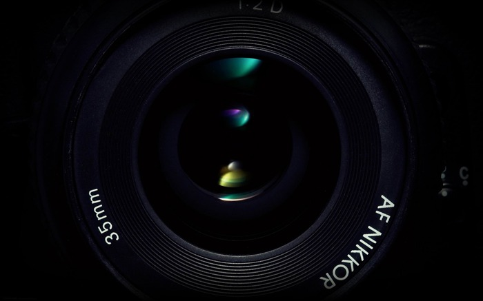camera lens green-Digital products HD widescreen Wallpaper Views:3923