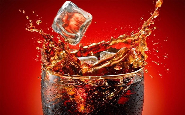 coca cola ice glass splashes-food drinks HD wallpaper Views:4448