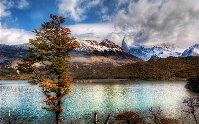 emerald lake in the andes-Travel photography wallpaper Views:3663