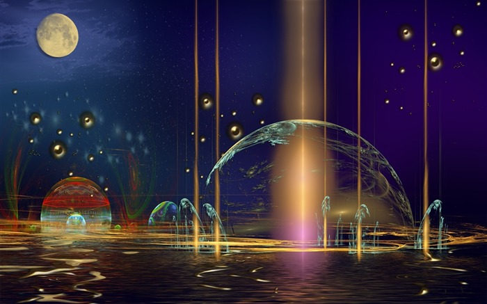 planet imagination background-Art abstract design wallpaper Views:3340