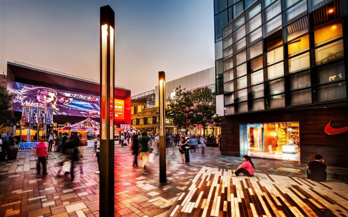 shopping area in beijing-Travel photography wallpaper Views:3808