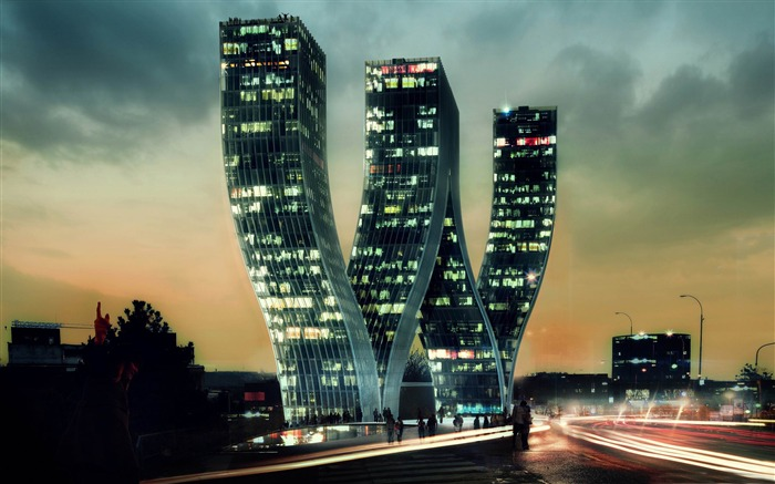 w building-creative design HD wallpaper Views:6124