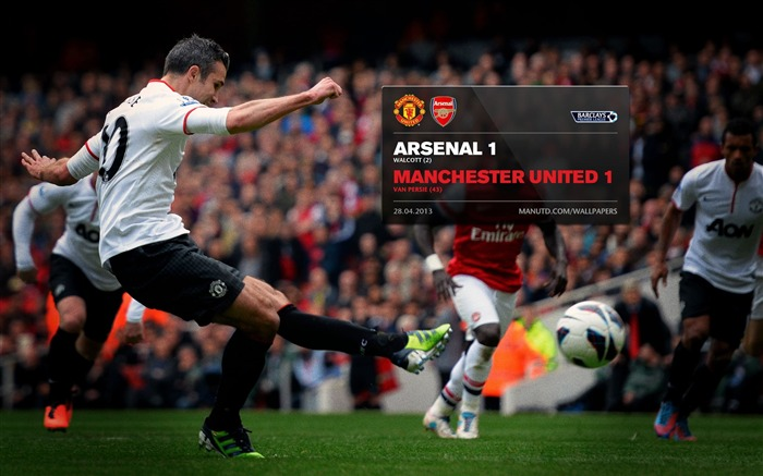 Arsenal 1 Manchester United 1-2012-13 champion Wallpaper Views:4280 Date:5/3/2013 10:52:24 PM